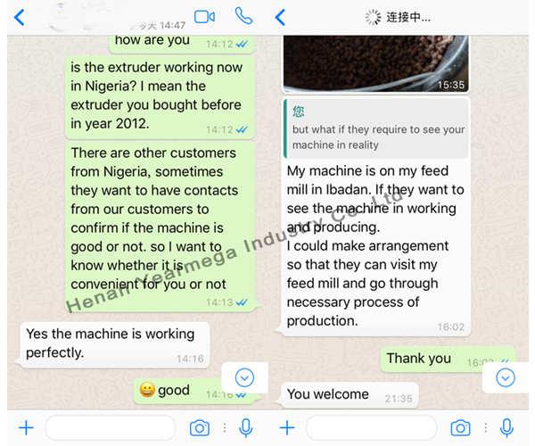 Feedback from customers